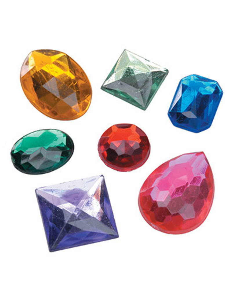 Darice Acrylic Rhinestones - Assorted Shapes, Colors and Sizes - 26 pieces