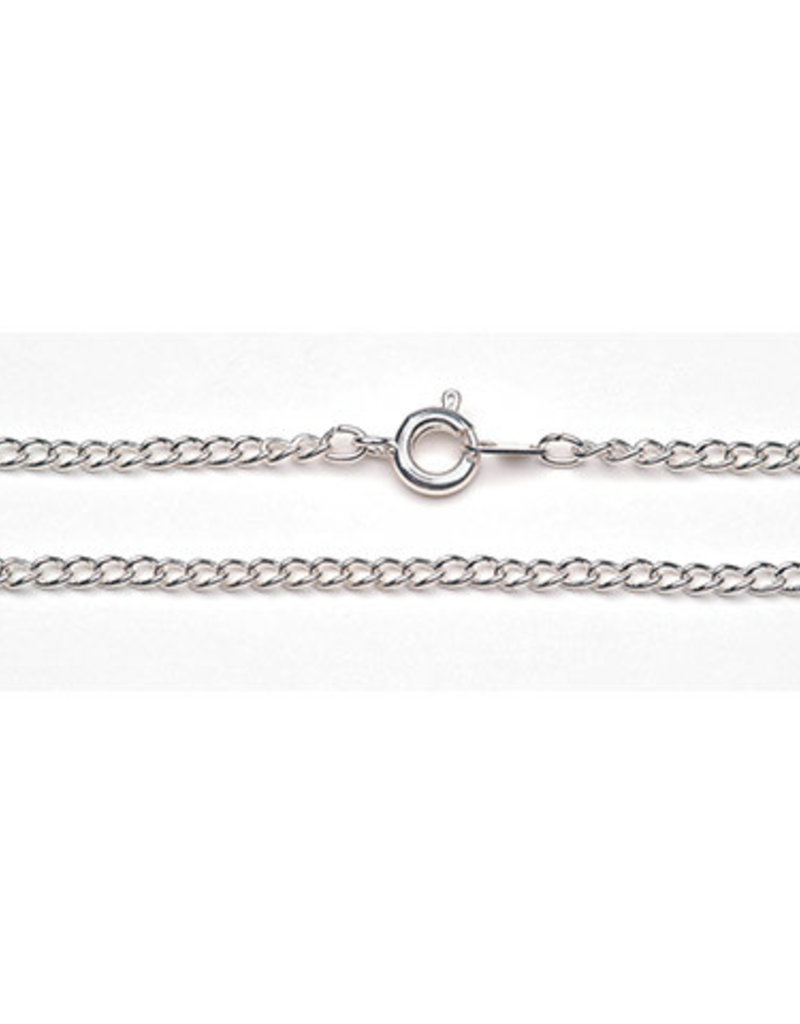 Darice Chain Silver Plated 1 x 1 mm 24 Inches
