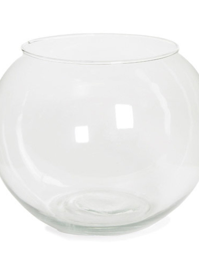 Darice Bubble Bowl Clear Glass 8 inches