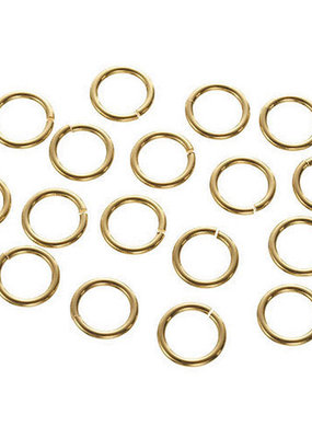 Darice Jump Rings Gold Plated Brass 10 mm 60 Pieces