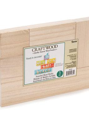 Darice Craftwood Blocks Assorted Sizes
