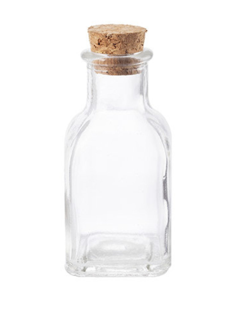 Darice Glass Bottle with Cork 1.5 x 3.5 inches