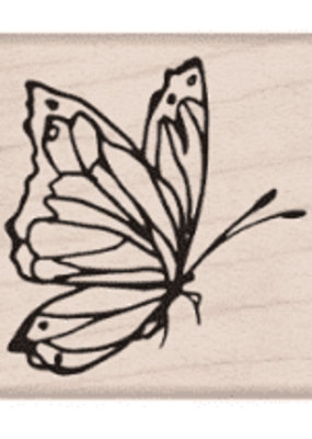 Hero Arts Stamp Side View Butterfly