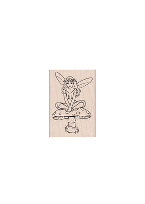 Hero Arts Stamp Fairy on Mushroom