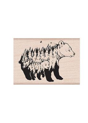 Hero Arts Stamp Celebrate Earth Bears 2 x 1.5 Inches