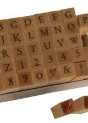 Hero Arts Stamp Alphabet Printer's Type Upper Case