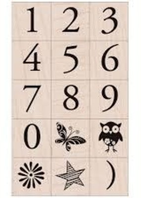 Hero Arts Stamp Garamond Number Set
