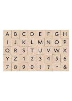 Hero Arts Stamp Set Uppercase Letters and Numbers
