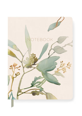 Fringe Notebook Watercolor Eucalyptus Lined
