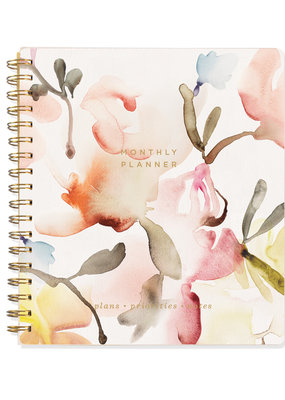 Fringe Undated Monthly Planner Watercolor Floral