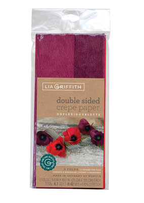 lia griffith Lia Griffith Crepe Paper 2 Pack Sangria/Aubergine + Cherry/Raspberry