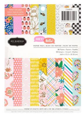 Jen Hadfield Paper Pad 6 x 8 Hey Hello