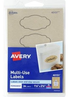 Avery Avery Label Removable Multi Use Kraft Brown