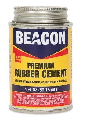 Beacon Premium Rubber Cement 4 Ounce