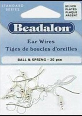Beadalon Beadalon Ear Wire Nickel Free Silver