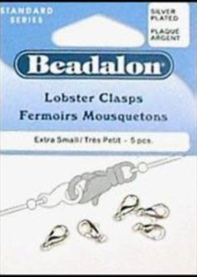 Beadalon Beadalon Clasp Lobster 9.7 mm Small Silver 5 Piece