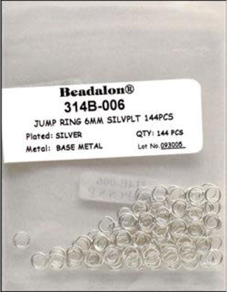 Beadalon Beadalon Jump Ring 6 mm Silver 144 Piece