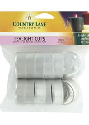 Country Lane Tealight Metal Cup 12 piece