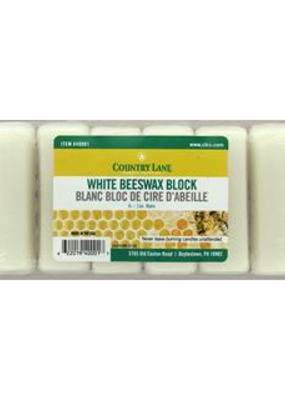 Country Lane Beeswax Bars White 6 oz