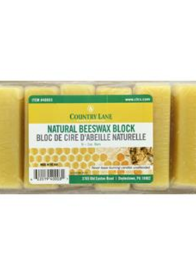 Country Lane Beeswax Bars Natural 6 oz
