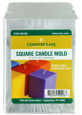 Country Lane Candle Mold Aluminum 3 Inch Square