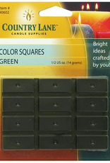 Country Lane Candle Color Squares .5 Ounce Green