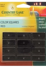 Country Lane Candle Color Squares .5 Ounce Red