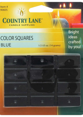 Country Lane Candle Color Squares .5 Ounce Blue