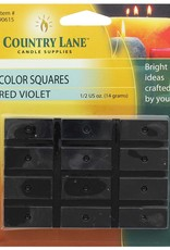 Country Lane Candle Color Squares .5 Ounce Red Violet