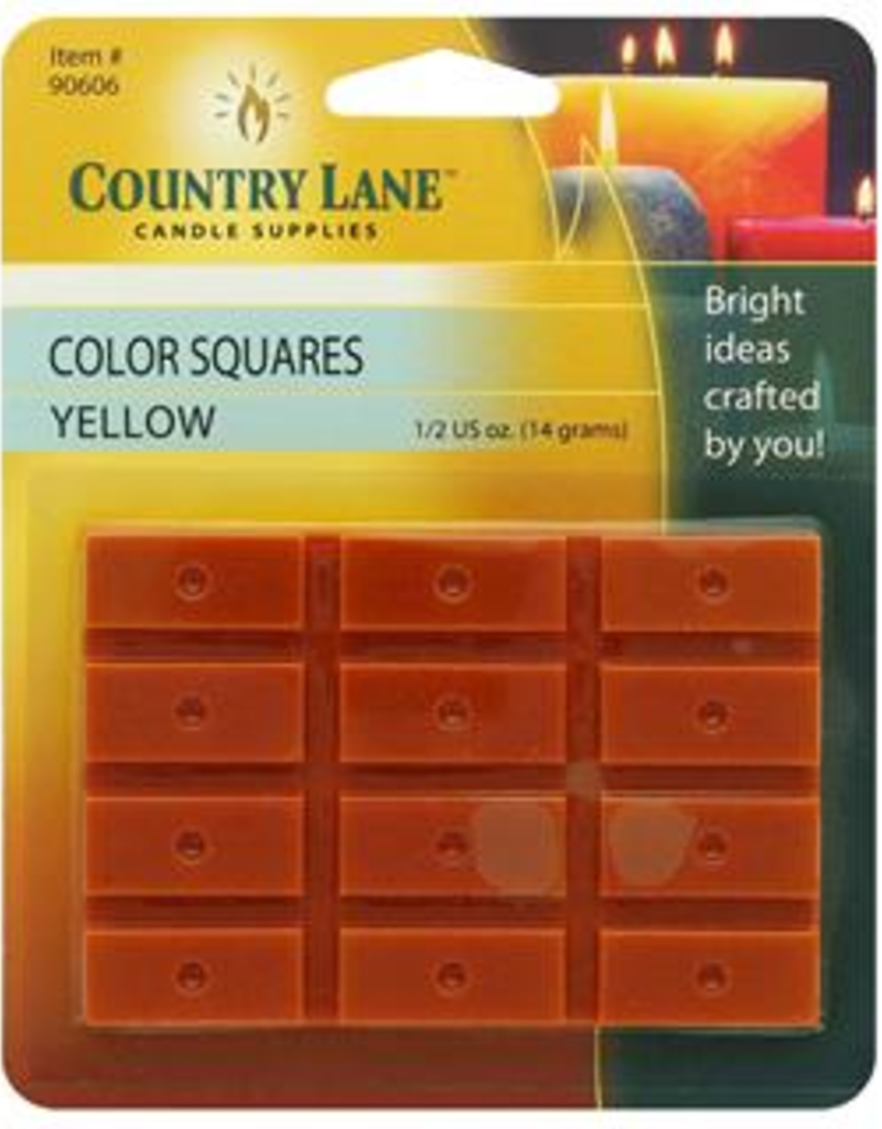 Country Lane Candle Color Squares .5 Ounce Yellow