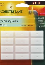 Country Lane Candle Color Squares .5 Ounce White