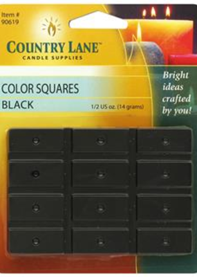 Country Lane Candle Color Squares .5 Ounce Black