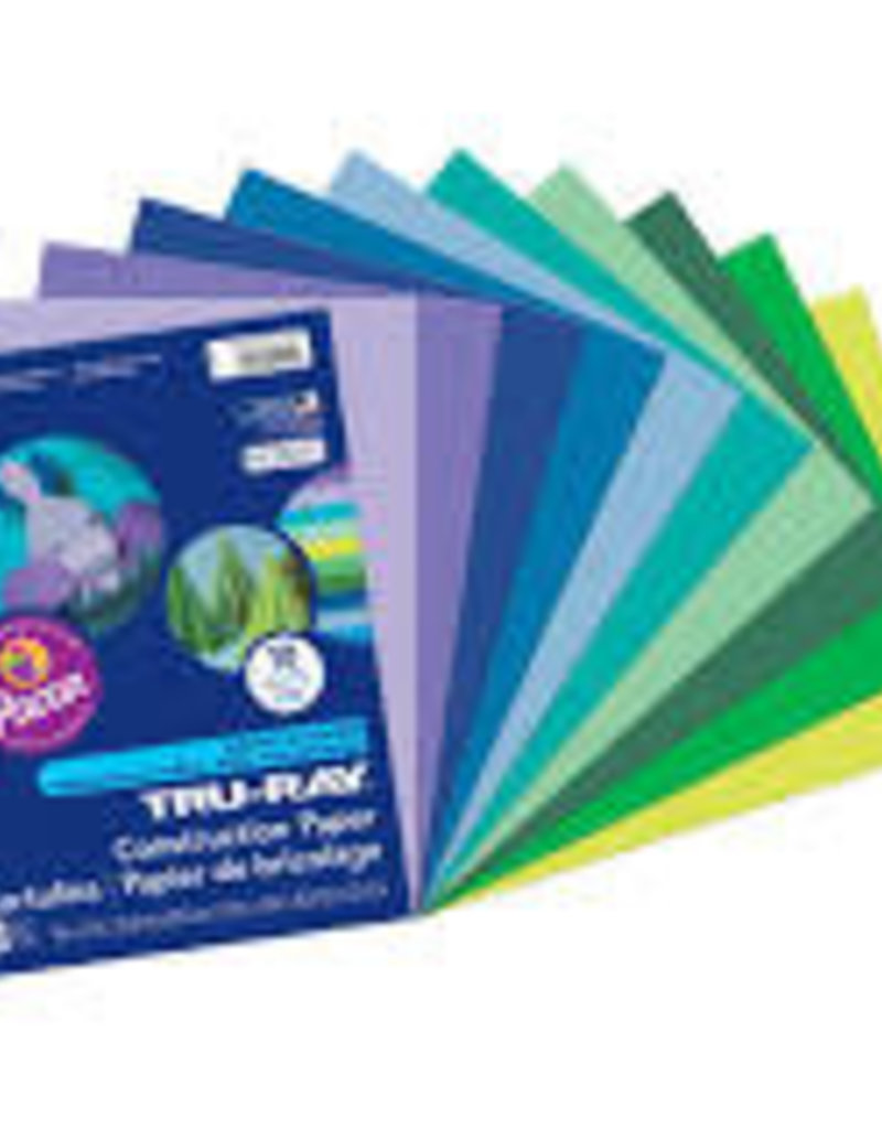 Pacon Construction Paper Pack Cool Assorted Colors