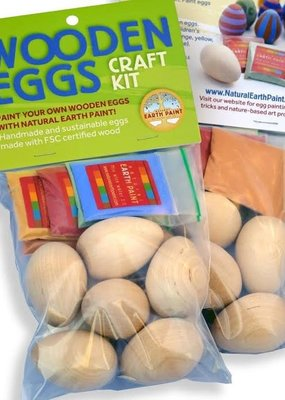 Natural Earth Paint Wooden Eggs Craft Kit