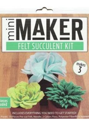 PA Essentials Leisure Arts Kit Mini Maker Felt Succulent Green