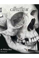 Cretacolor Creatacolor Skull Edition Black and White Tin Set