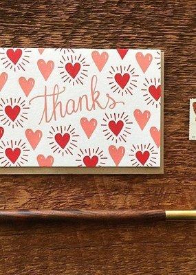 Noteworthy Card Hearts Thanks