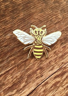 Noteworthy Enamel Pin Honey Bee