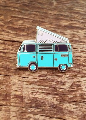 Noteworthy Enamel Pin Camper Van