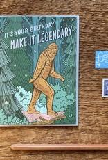 Noteworthy Card Bigfoot Birthday
