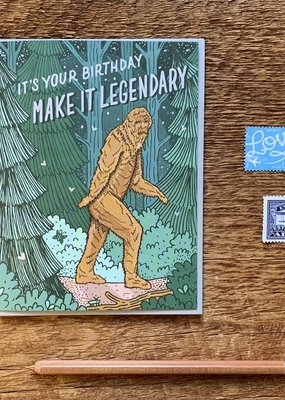 Noteworthy Card Bigfoot Birthday