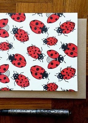 Noteworthy Card Ladybugs