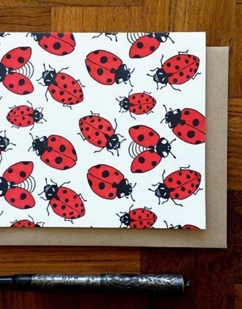 Noteworthy Card Ladybugs