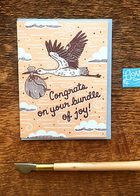 Noteworthy Card Congrats Stork