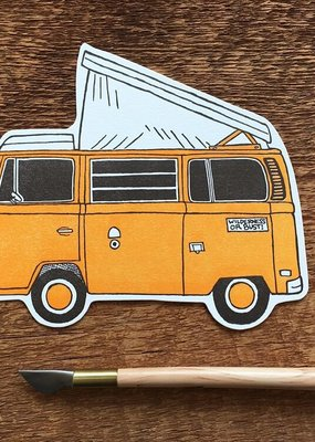 Noteworthy Postcard Die Cut Camper Van