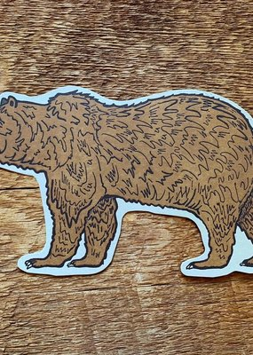 Noteworthy Postcard Die Cut Grizzly Bear