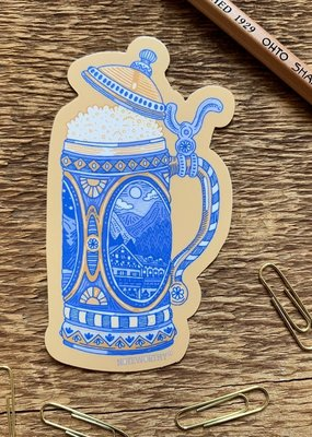 Noteworthy Sticker Beer Stein