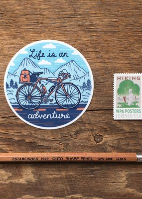 Noteworthy Sticker Adventure Bicycle