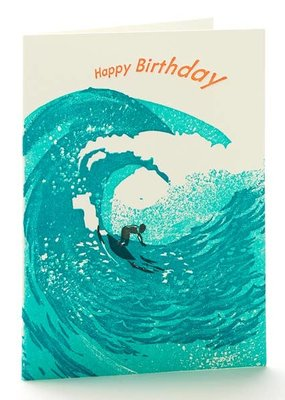 Ilee papergoods Card Happy Birthday Surfer