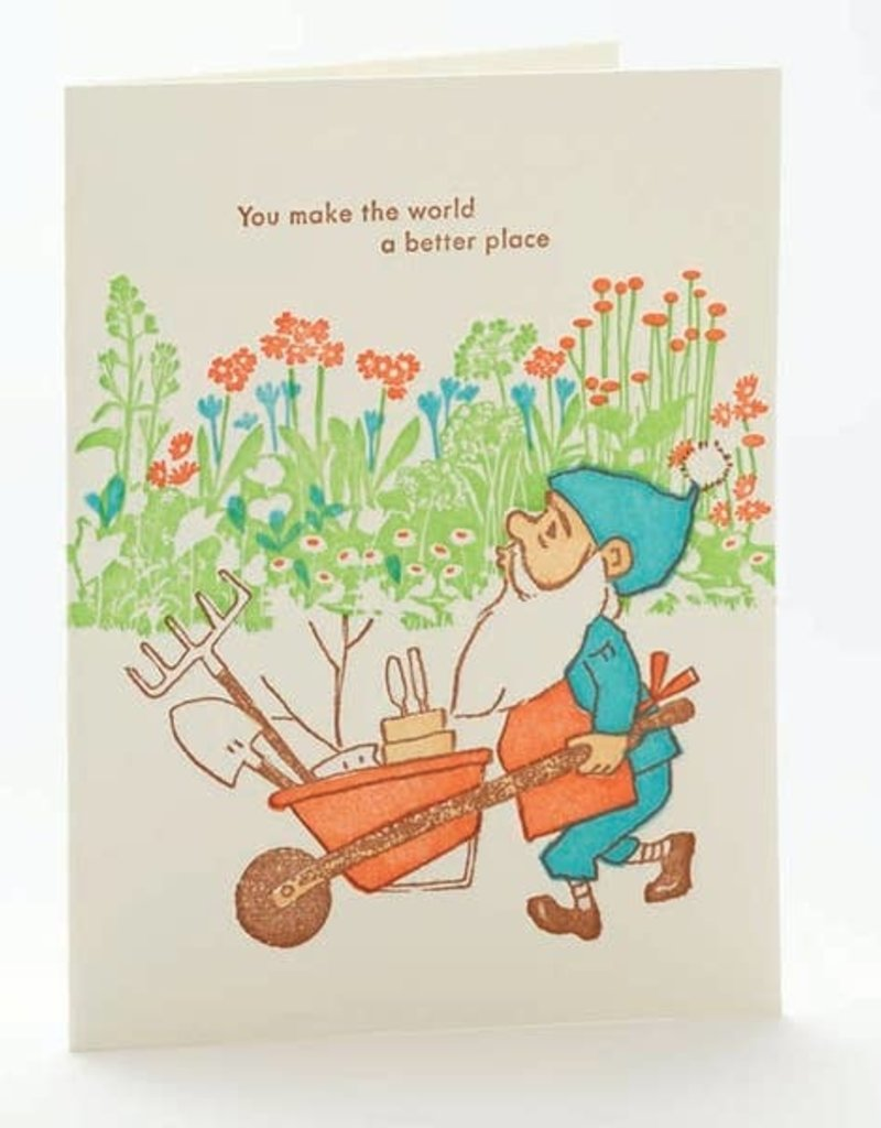 Ilee papergoods Card You Make The World A Better Place